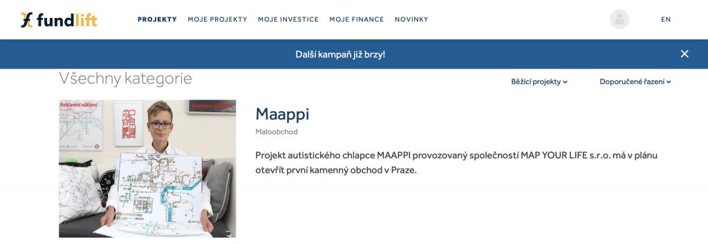 Ukázka projektu Maappi