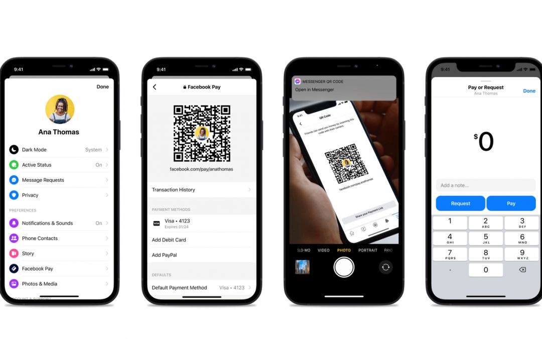 Facebook představuje QR kódy pro převody peněz mezi uživateli v Messengeru