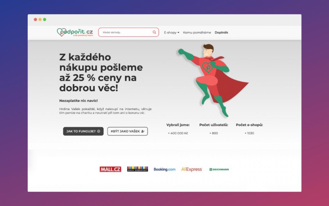 Jak přispět na dobrou věc a neutratit při tom ani korunu s FinTechem Podporit.cz